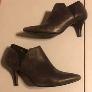 Donald J Pliner Ankle Boot Bronze/Brown Size 8.5